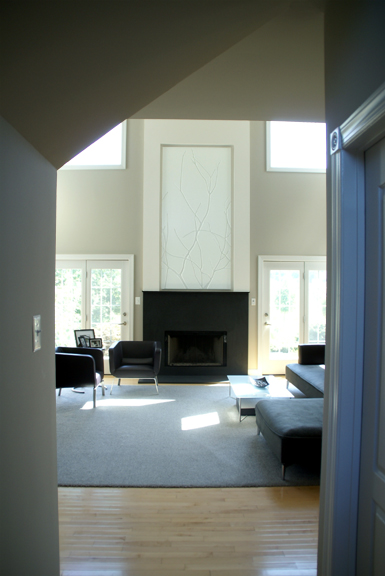 Fireplace From Entry
