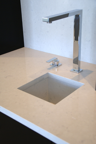 CaesarStone + Dornbracht Faucet- Rissay Ltd.
