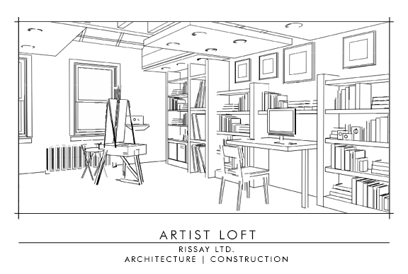 artist studio - 2d Interior Design