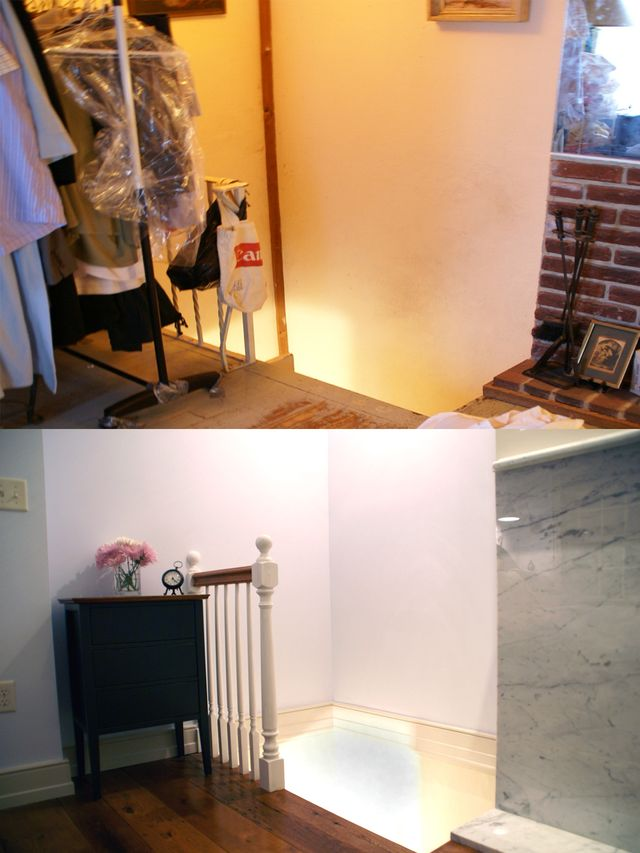 Floors & Railing- Before & After