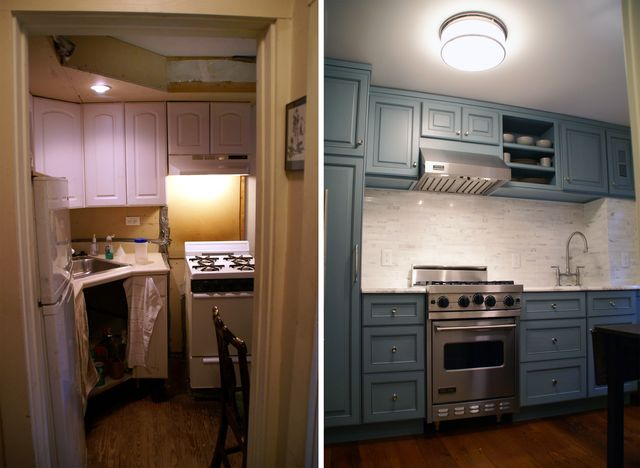 Kitchen Before And After trinity- completed: kitchen entrance- before & after
